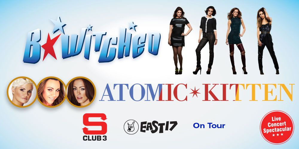 B*Witched and Atomic Kitten With S Club 3 and East 17